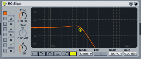 Lowpass filter configuration