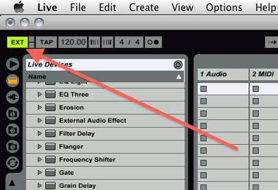 Ableton Live External Sync