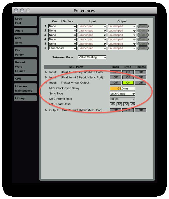 Ableton Live MIDI clock sync